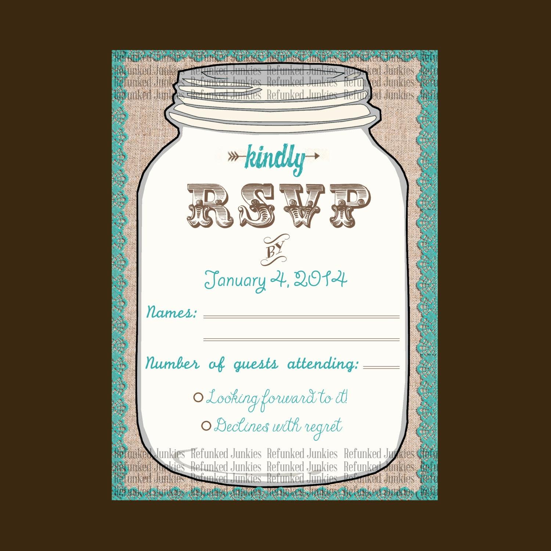 free rsvp wedding template