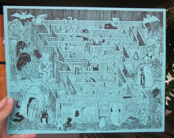Maze Print