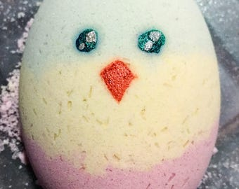 Organic Bath Bomb ~ Easter Egg Bath Bomb ~ Easter Gifts ~ Colorful Bath Bomb ~ Bath Fizzies ~ Easter Chick Bath Fizzy ~ Bath Bombs for Kids