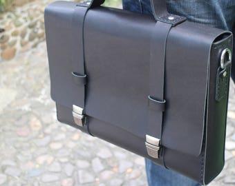 leather briefcases,leather messenger bag, laptop bag, leather bag,multifunction bag,full grain leather,handmade leather bag...