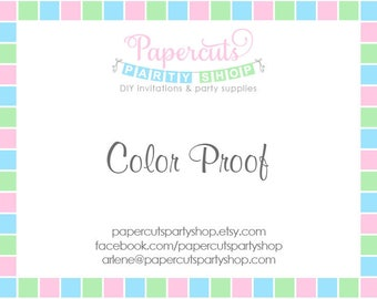 Color Proof - Please see item details