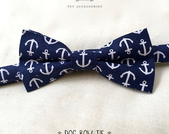 dog or cat bow tie – anchors