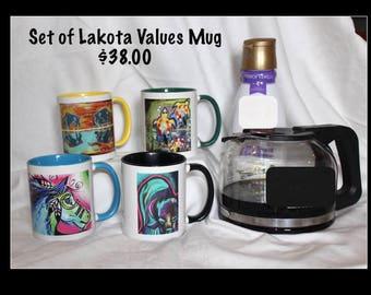 Coffee Mugs - Lakota Values by Tammy Joy - 4 OPTIONS