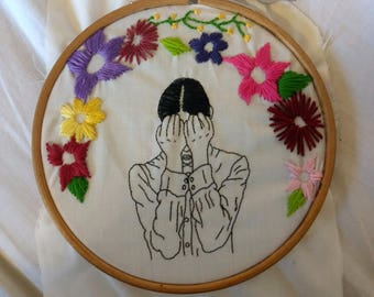 Daydreaming embroidery