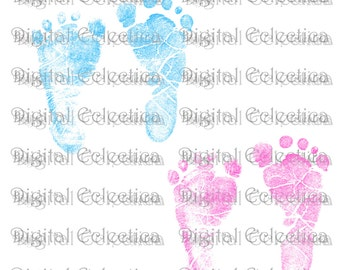 Pink and Blue Baby Footprints Transparent Image. PNG Baby Footprints. Pink Baby Feet. Baby Shower Pink Baby. Blue Baby Feet. No. 0143