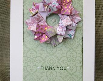 HANDMADE GREETING CARDS, Thank You, Birthday, Anniversary, Wreath, Gold, Metallic, Art Cards, I Love You, Congratulations