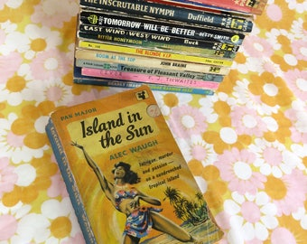 Vintage 1950s pulp fiction book - loads being listed - Island in the Sun by Alec Waugh - Pan Major novel - tropical island passion
