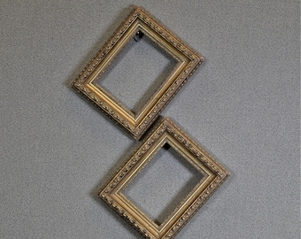 3x4 Frames Ornate Gold Wood Two Available with Optional Glass