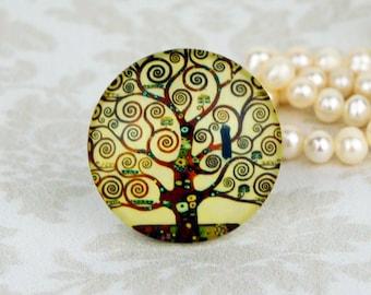 25mm 30mm tree cab Handmade photo glass cabochon Klimt Art Nouveau 30B036