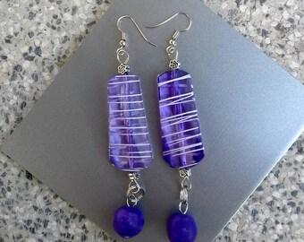 Violet earrings, lilac earrings, lavender earrings, purple earrings, sweet 16, gift for girl, spring earrings, Valentine gift, birthday gift
