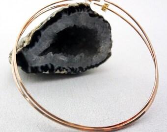 Large Hoop earrings - Rose Gold hoops - Gold hoops - Sterling Silver Hoops - large hoops - hammered hoops - big silver hoops