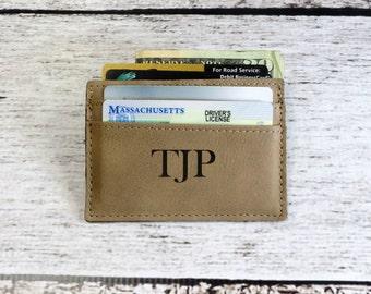 Personalized Leather Money Clip Monogrammed, Card holder, Wallet, Groomsmen Gift, Groomsman, Best Man, Gifts for Men