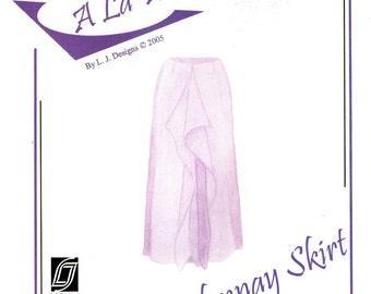 """L. J. Designs """"A La Mode"""" CHARDONNAY SKIRT Size XXS thru XXLarge"""
