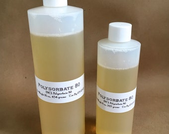 1lb- POLYSORBATE 80, Emulsifier, Co-Surfactant, 16 oz, Two Wild Hares