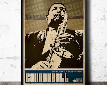 Cannonball Adderley Jazz Art Poster