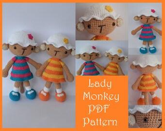 Lady Monkey Amigurumi Pattern