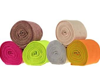 50 cm pot-Strip felt ribbon, 15 cm wide, two colour choice (colour-orange-green)