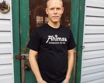 Ahimsa - Paw - Compassion for All - Men's T-Shirt