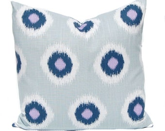 Blue Pillow Covers - Lilac Pillow Covers - Light Purple Cushion Covers - Lilac Bedding - Purple Throw Pillow Covers - Sofa Pillow Covers