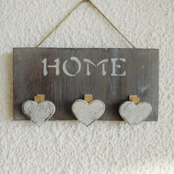 Targa appendino in legno con scritta home for Scritta home in legno