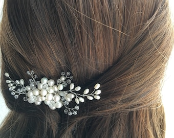 Bridal Hair Comb, Pearl Hair Comb, Wedding Hair Comb, bridal accessories headpiece hair piece, ivory pearl hair comb