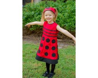 Dalek Costume Dress in any Child's Size, Choice of Colors