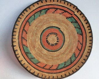 Sweetgrass Basket from Arizona Vintage 80s Sweet grass