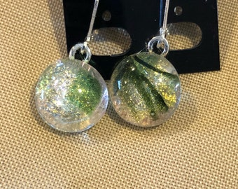 Earrings fused glass lever back sterling silver your choice pick one