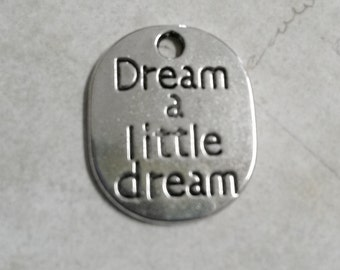 Quote Charms Word Charms Silver Word Charms Quote Pendants Dream Charms Silver Charms Word Pendants Silver Quote Charms 5 pieces