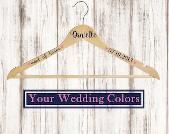 Wedding Hanger / Bridesmaid Gift / Wedding Dress Hanger / Bride Hanger / Wedding Photography Prop / Custom Hanger / Bridesmaid Hanger