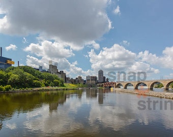Minneapolis from the Mississippi River photograph