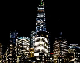 LIMITED EDITION, New York City Photography, 'New York City Lights', Fine Art Photography, Cityscape, Travel Photography, NYC, Wall Art