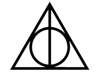 Harry Potter y la etiqueta de símbolo de Deathly Hollows