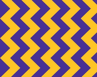 "Medium Chevron Purple/Gold 58"" Wide  by Riley Blake Designs 1 yard cut - Chevron Fabric- Extra Wide Fabric"