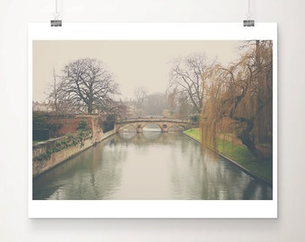 cambridge photograph winter photograph bridge photograph travel photography river cam photograph tree photograph cambridge print