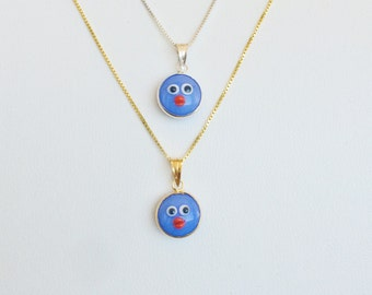 Kids Evil Eye Necklace With The Cute Blue Lucky Eye For Protection • Kids Adore This Whimsical Design and Love The Colors
