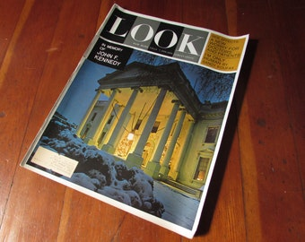 December 1963 Issue of Look Magazine In Memory of JFK