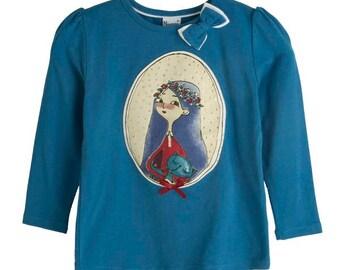 Toddler girls Tshirt, Toddler Tshirt, Blouse Girl, Girl Tshirt, Rhinestones Tshirt, Printed Tshirt , Children's Fashion,Sizes 2T,4T,5T,7