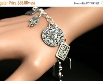 MOTHERS DAY SALE Tarot Bracelet. Tarot Charm Bracelet. Divination Bracelet. Silver Bracelet. Fortune Teller Bracelet. Tarot Jewelry. Metaphy