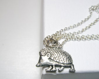 Sale Tiny Hedgehog  Necklace -hedgehog keychain-  Hedgehog Keyring -  Hedgehog jewelry  with  Free  gift