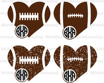 Football american svg - Football american monogram digital clipart for Design or more, files download svg, png, dxf