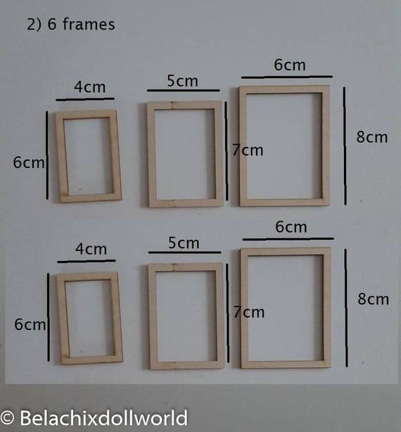 Unfinished miniature photo frames, dollhouse frames, Miniature photo ...