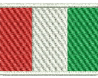 Italy flag embroidery design - Machine Embroidery Design instantly download