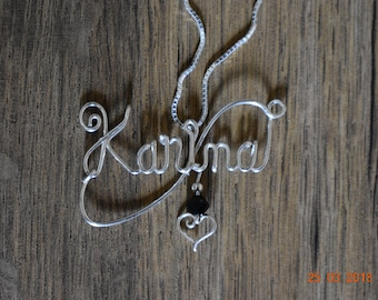 names on sterling silver