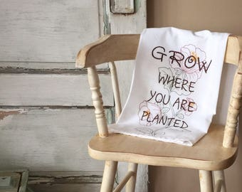 Embroidered Dish Towel 'PLANTED'