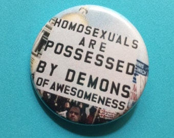 Queer Awesomeness 1.25 inch pinback