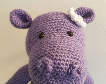 Crocheted Purple Hippo