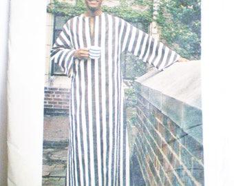 Men's 1970s Boho Caftan Dashiki Pattern Butterick 3383 Size Large (42-44) - easy, long pullover tunic, loungewear, side slits,kimono sleeves
