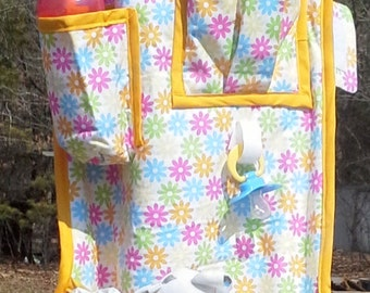 Yellow  Pink Green Blue Floral Baby Organizer