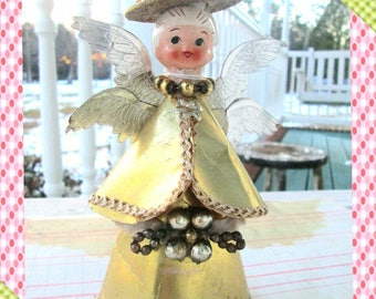 Vintage Tree Topper Angel, 1950s Rare Tree Topper, Angel, Holt Howard, Christmas Ornament, 1950s Christmas Decoration, Tree Topper, Rare